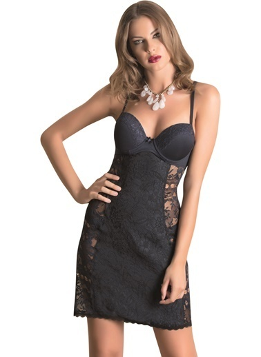 Naymphe Kadın Fantezi Gecelik Lacivert
